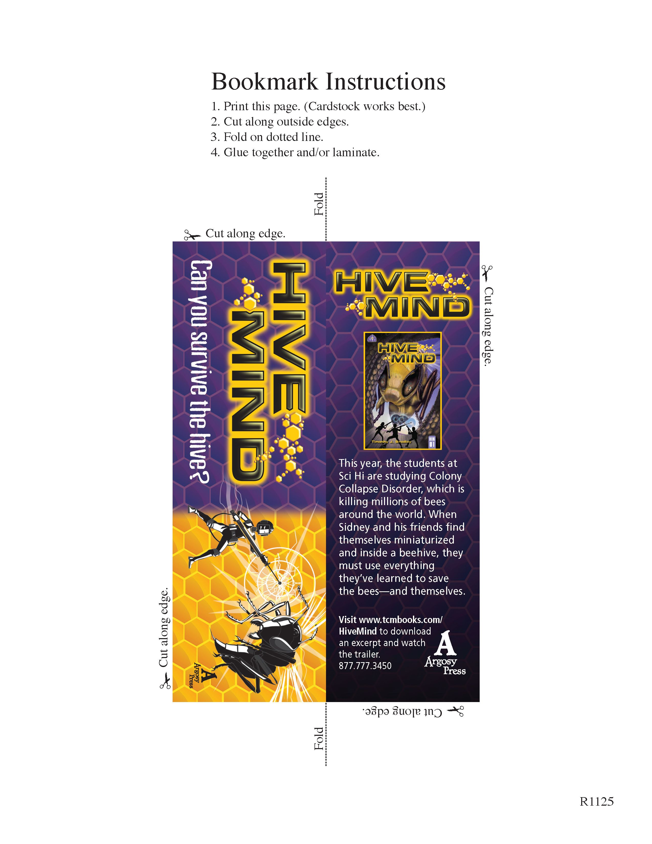 Enjoy This Free Hive Mind Bookmark