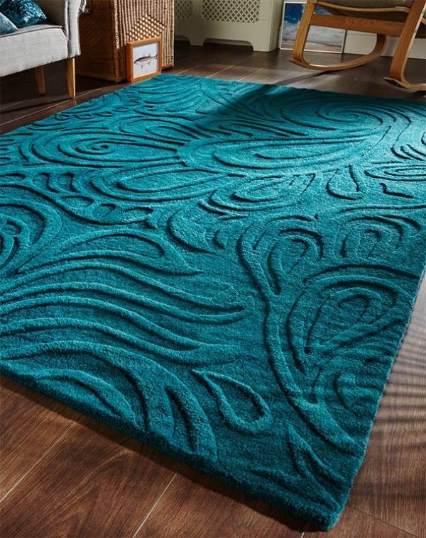 Relief Paisley Teal Rug