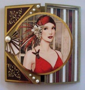 Gate Fold Card Kanban & Debbi Moore Art Deco die cut toppers
