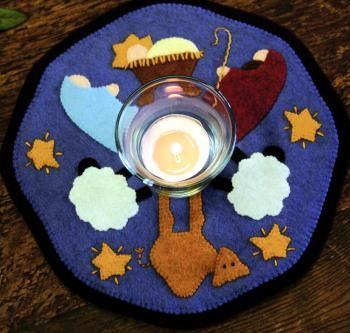 Nativity candle mat