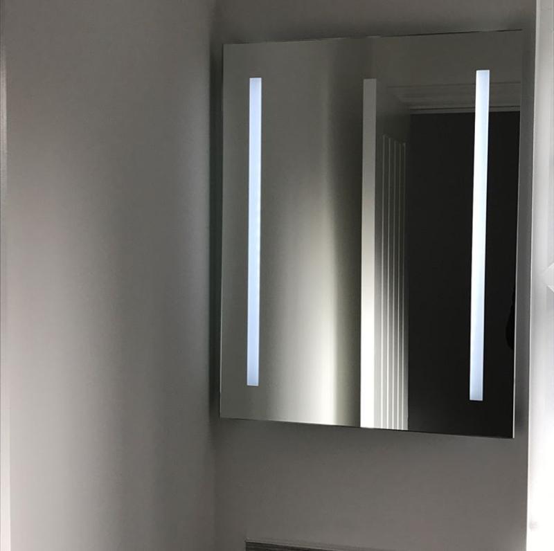 Led Illuminated Mirror Battery Operated Led Mirror Bathroom Mirror Bathroom Mirror