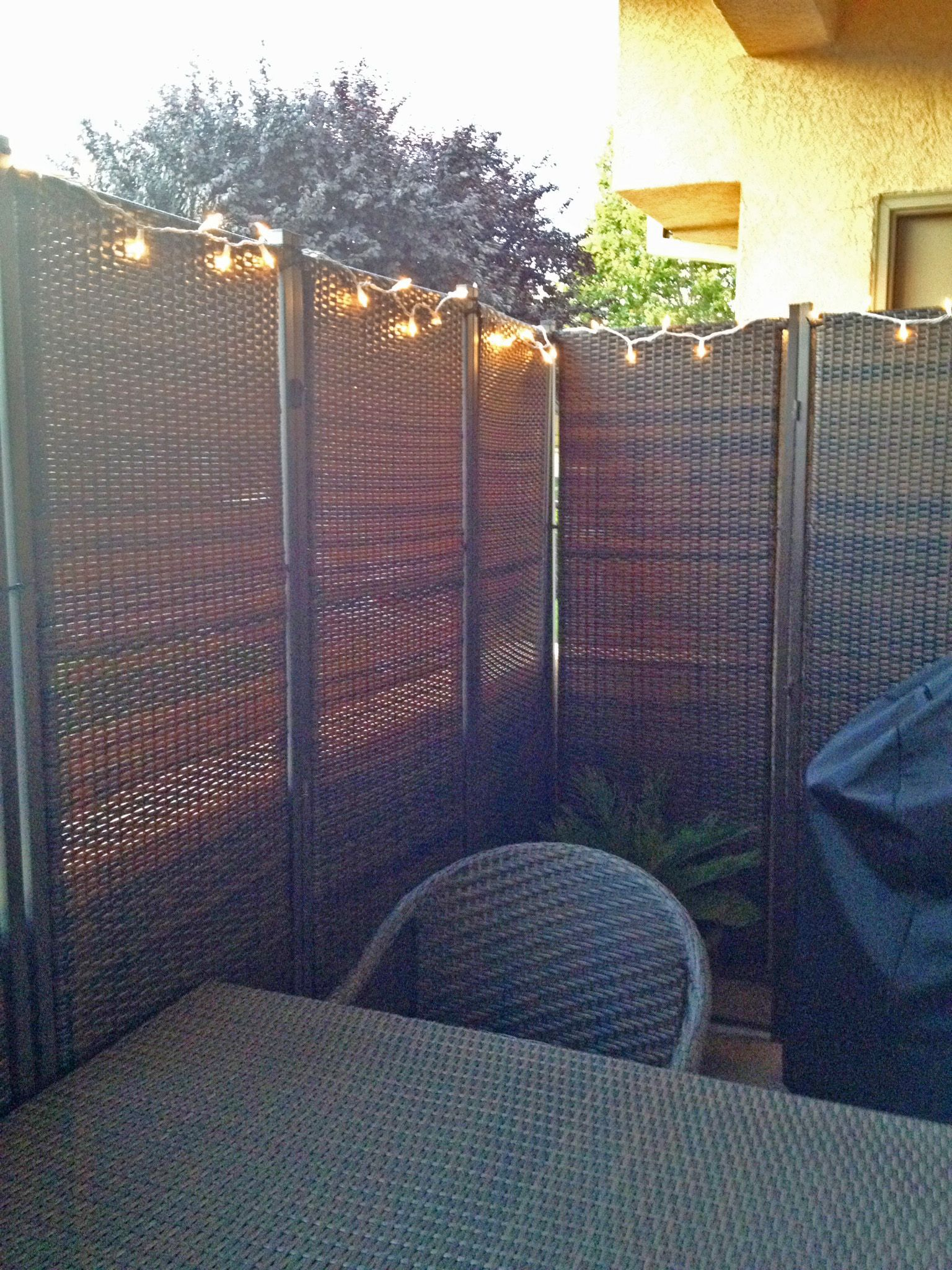 A Private Outdoor Dining Area Is Created With Our 3 Panel