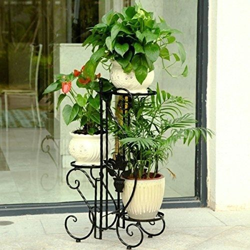 Garden Plant Stand Metal Decor 3 Tier Planter Rack Out Flower Pot Display Holder