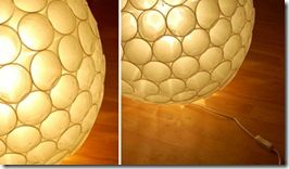 Cómo hacer unas bonitas lámparas con materiales reciclados.   Aprender manualidades es facilisimo.com