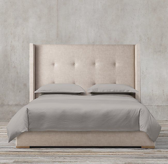 Tompkins Shelter Box-tufted Fabric Platform Bed | CA house! | Pinterest