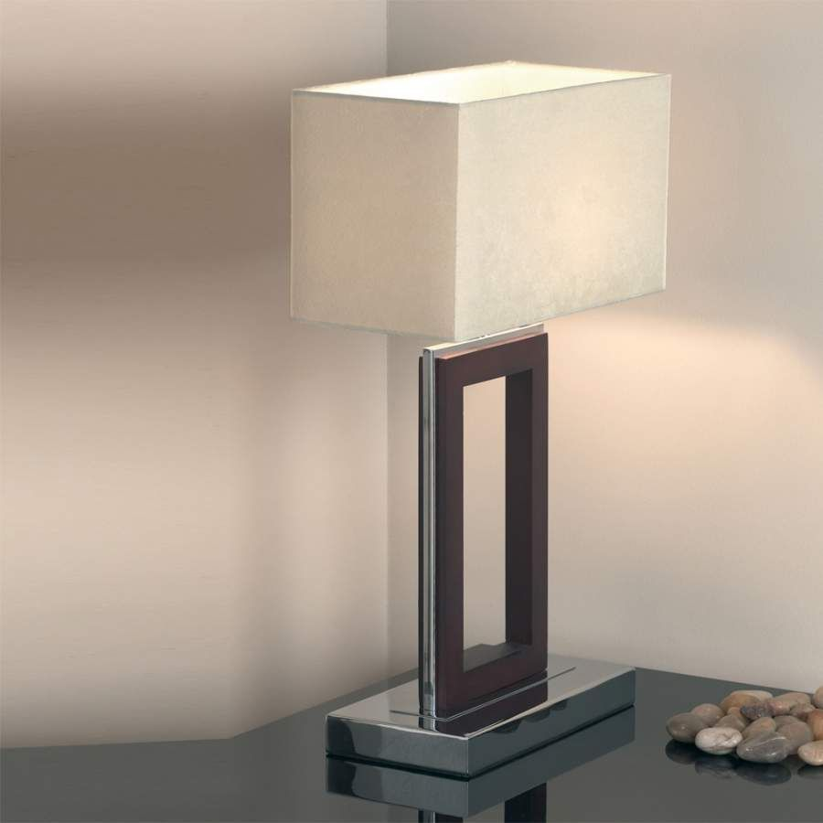 Dw 1 Light Dark Wood Table Lamp Top 10 Modern Bedside Table Lamps