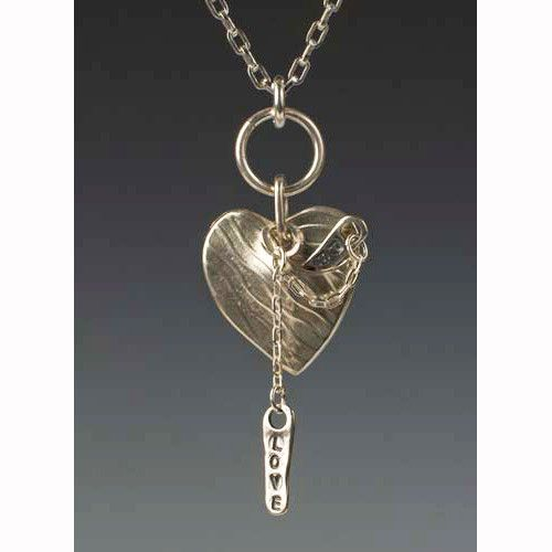 Love Pocket With Love Tags Necklace by Sherri Cohen Design
