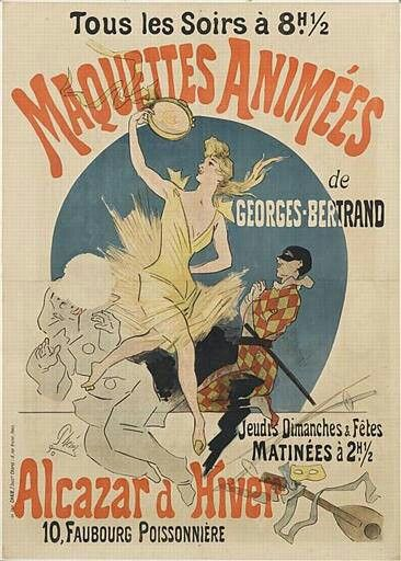 1890, Marquettes Animees, by Jules Cheret