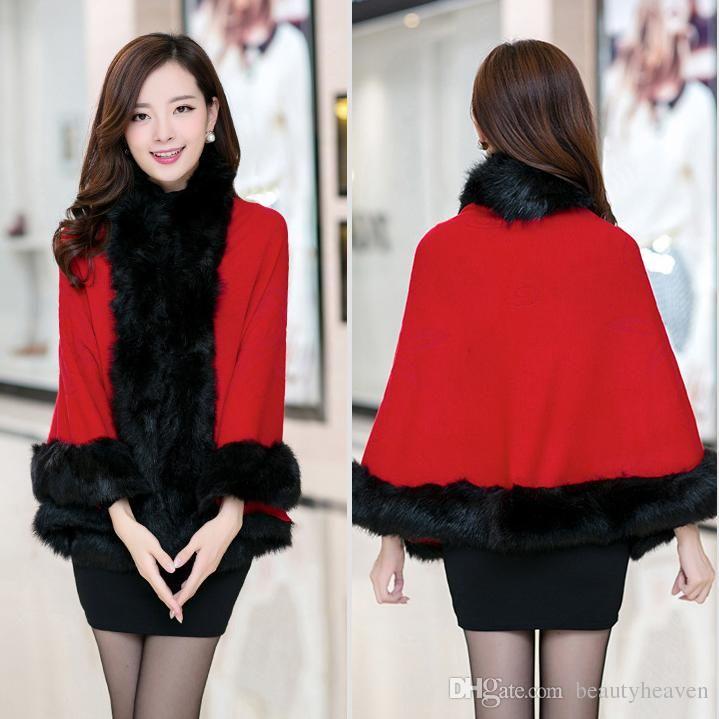 Women's Fur Coats Fur Outerwear New Korean Women Winter Warm Fur ...