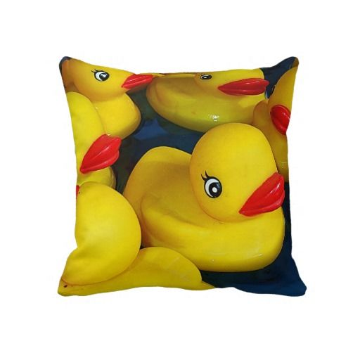 Cute Rubber Ducky Throw Pillows Now In The Rubber Duckies