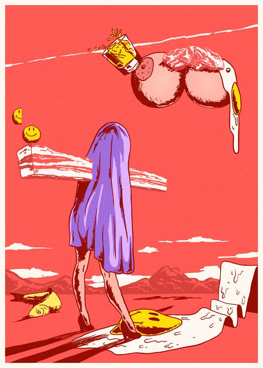 Surrealist illustrations. Flakonkishochki.
