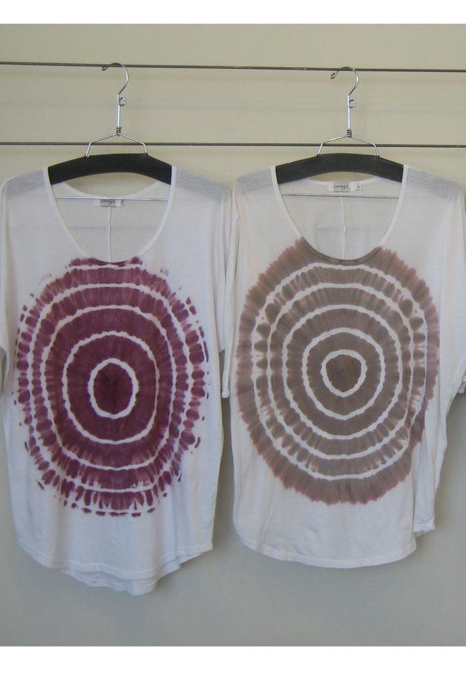 Omgirl Oversized Yoga tee tie dye and batik tee shirt