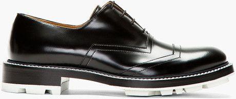 Jil Sander Black Buff Leather Lace Up Shoes in Black for Men