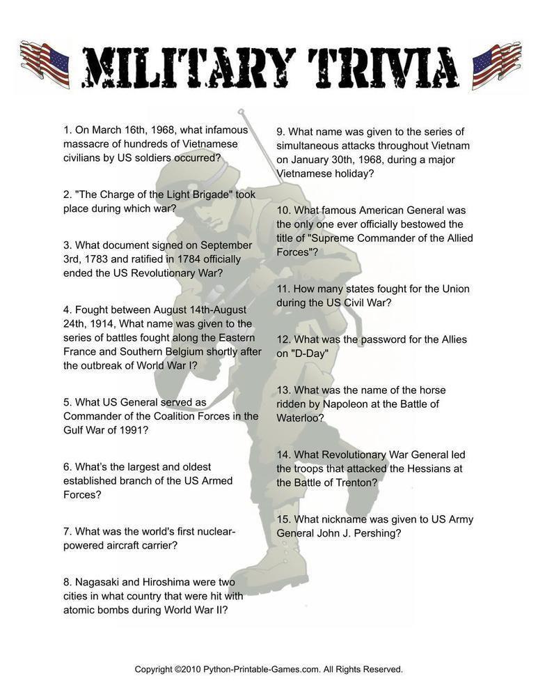 Pop Culture Games: Military History Trivia, $6 95 | Pop