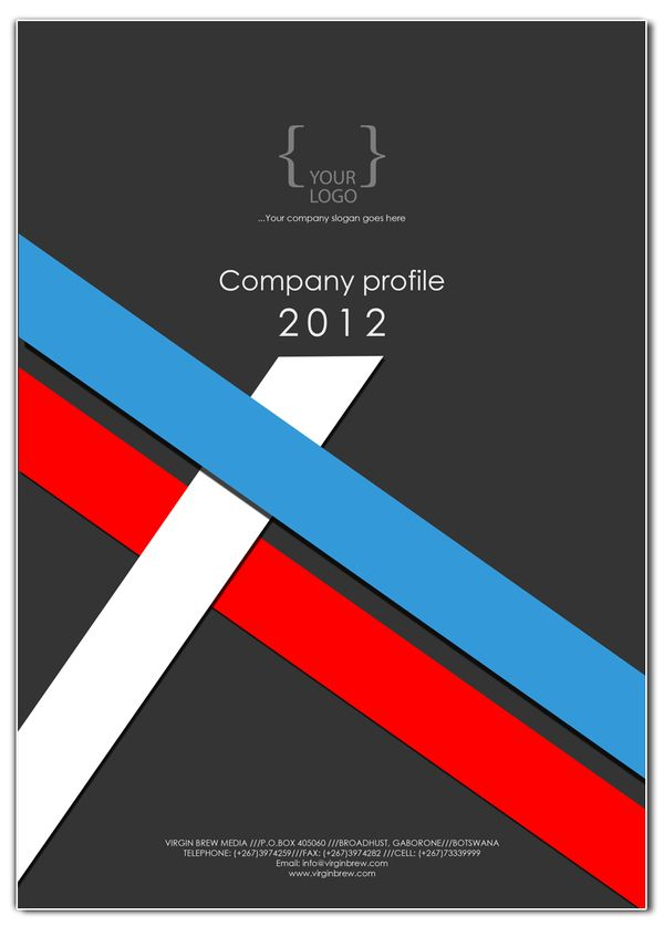 COMPANY PROFILE cover design templates on Behance | Ideas for the ...