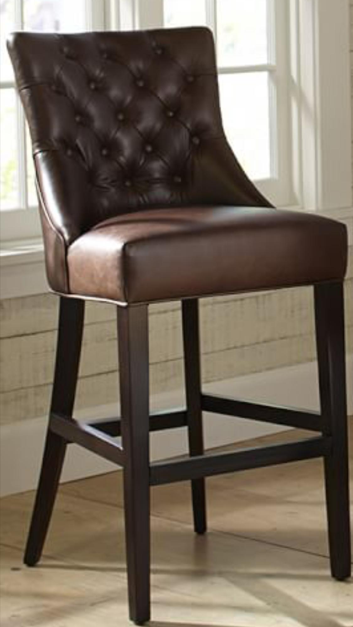 Strange Tufted Leather Kitchen Bar Stool Idea 4 House Beatyapartments Chair Design Images Beatyapartmentscom
