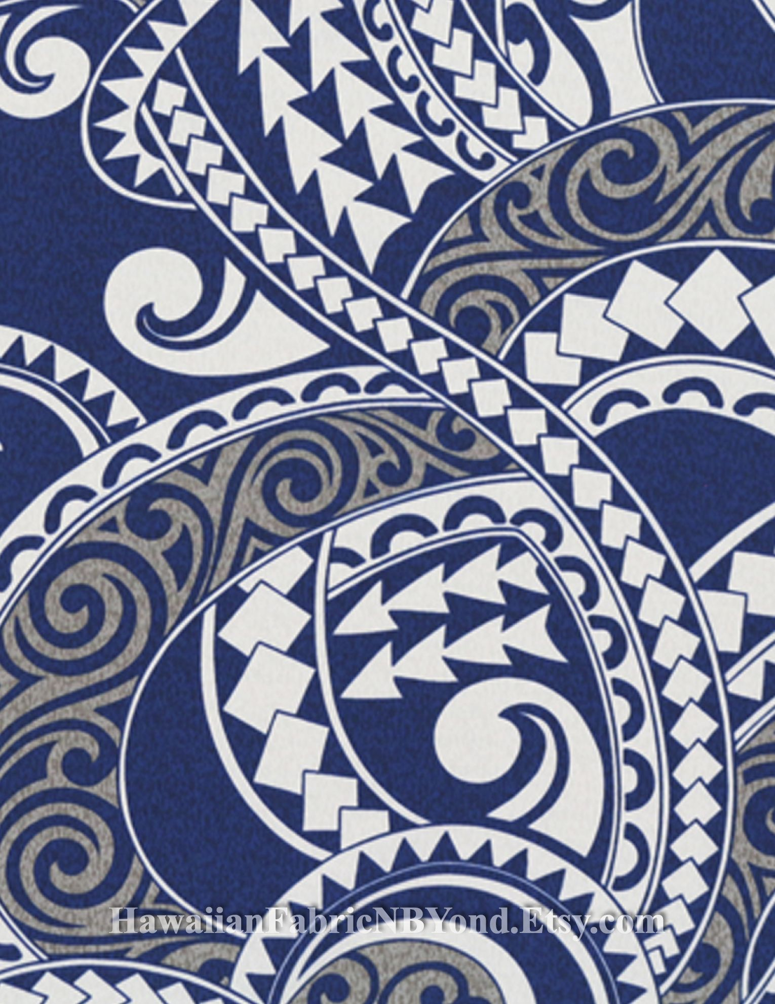 Polynesian Fabric Tattoo Symbols And Tribal Tapa Patterns Cotton Check