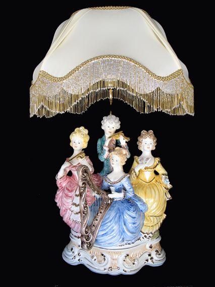 Capodimonte Lamps Capodimonte Figurine Lamp Se 242 L Capitamonte Stained Glass Lamps
