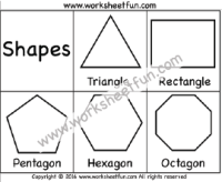 Shapes Triangle Rectangle Pentagon Hexagon Octagon One Worksheet Free Printable Worksheets Worksheetfun Printable Worksheets