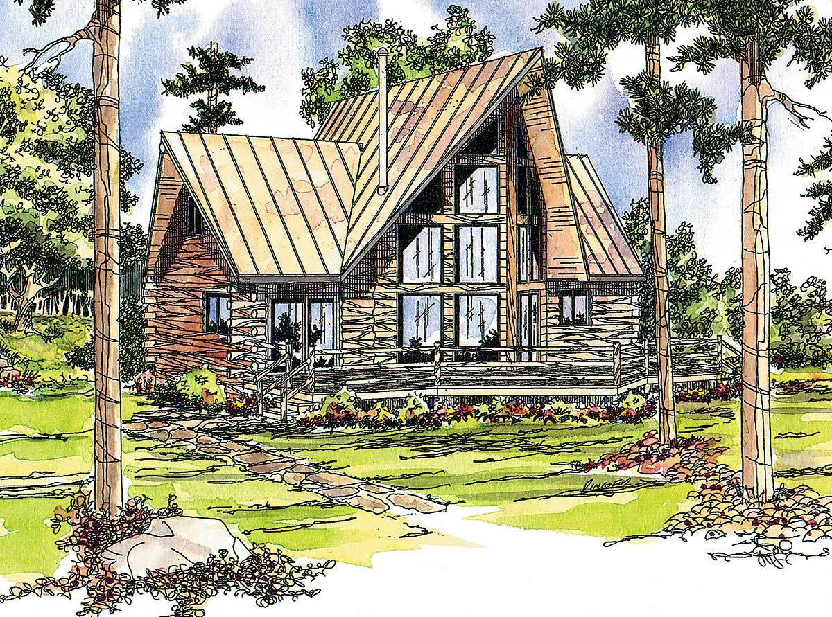 Plan 72320da Log Cabin With Two Wings A Frame House Plans Cabin House Plans Log Home Plans