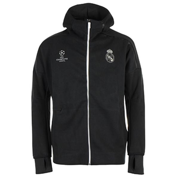 Adidas Real Madrid Anthem Hoodie Black Black Hoodie Hoodies Uefa Champions League