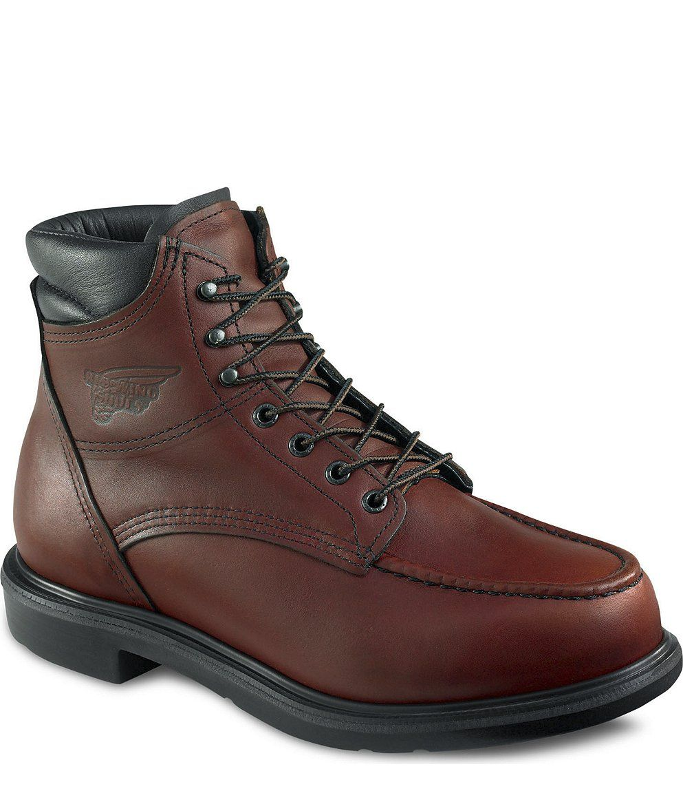 Red Wing Safety Boots - 202 Red Wing Men's - 6-inch Boot Brown ...