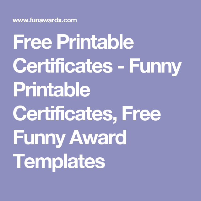 Free printable certificates funny printable certificates free free printable certificates funny printable certificates free funny award templates yadclub Images