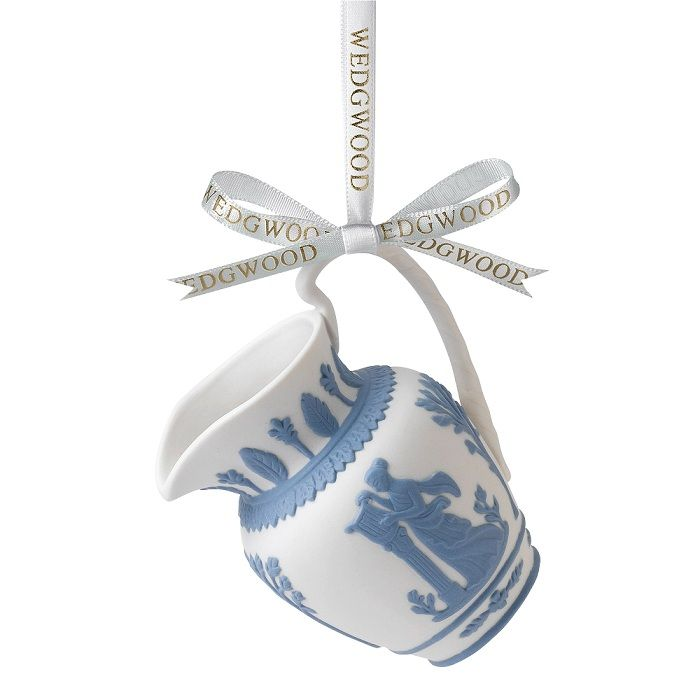 """Where Did The Christmas Tree Tradition Originate: Iconic Pitcher Ornament From Wedgwood 2 3/4""""H."""