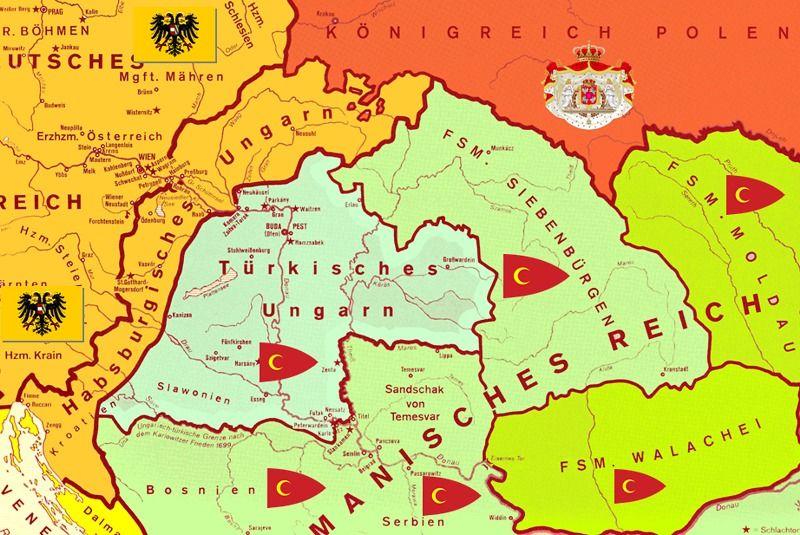 1683 Die Turken Vor Wien Doppeladler Com Ungarn Karte Osmanisches Reich Wien