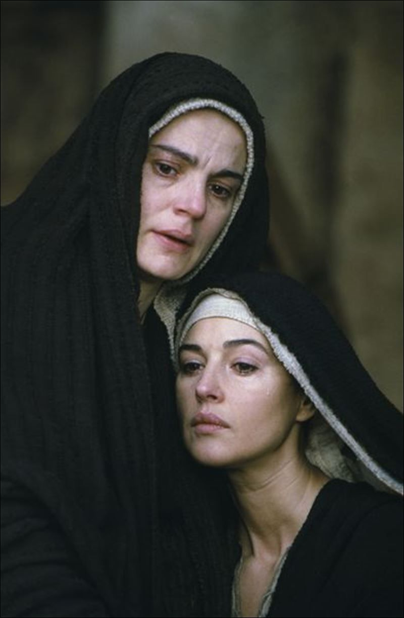 maia morgenstern as mary monica bellucci as mary magdalene in maia morgenstern as mary monica bellucci as mary magdalene in the passion of the
