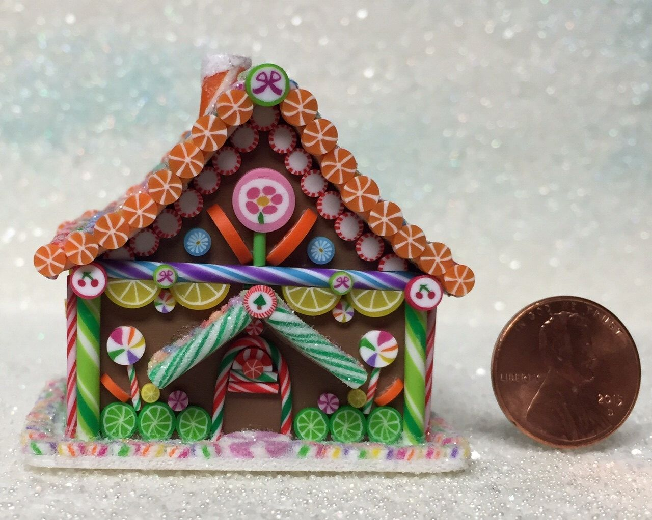 A Personal Favorite From My Etsy Shop Https Www Etsy Com Listing 266642207 Hansel Gretel Style Miniature Mini Gingerbread House Gingerbread House Miniatures