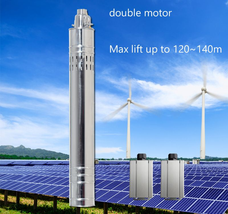 120m Lift 24v 36v Dc Submersible Solar Water Pump 0 5 Hp 1 Hp 2 Hp Deep Well Solar Powered Water Pump Wi Solar Water Pump Solar Powered Water Pump Solar Power