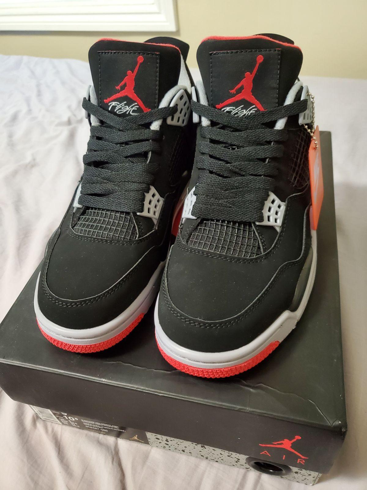 Nike Air Jordan 4 Retro Bred 2019 Size
