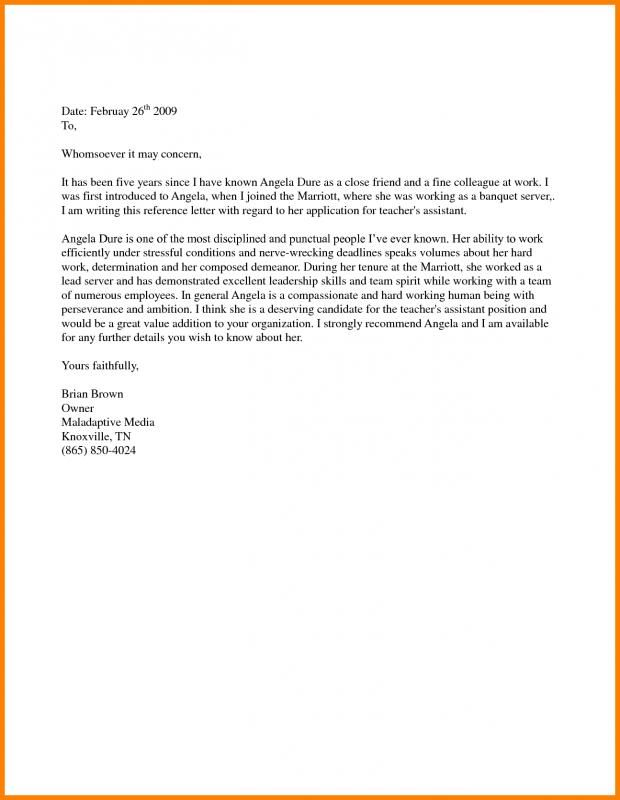 Support Letter Sample For Immigration Personal Reference Letter Reference Letter Template Writing A Reference Letter