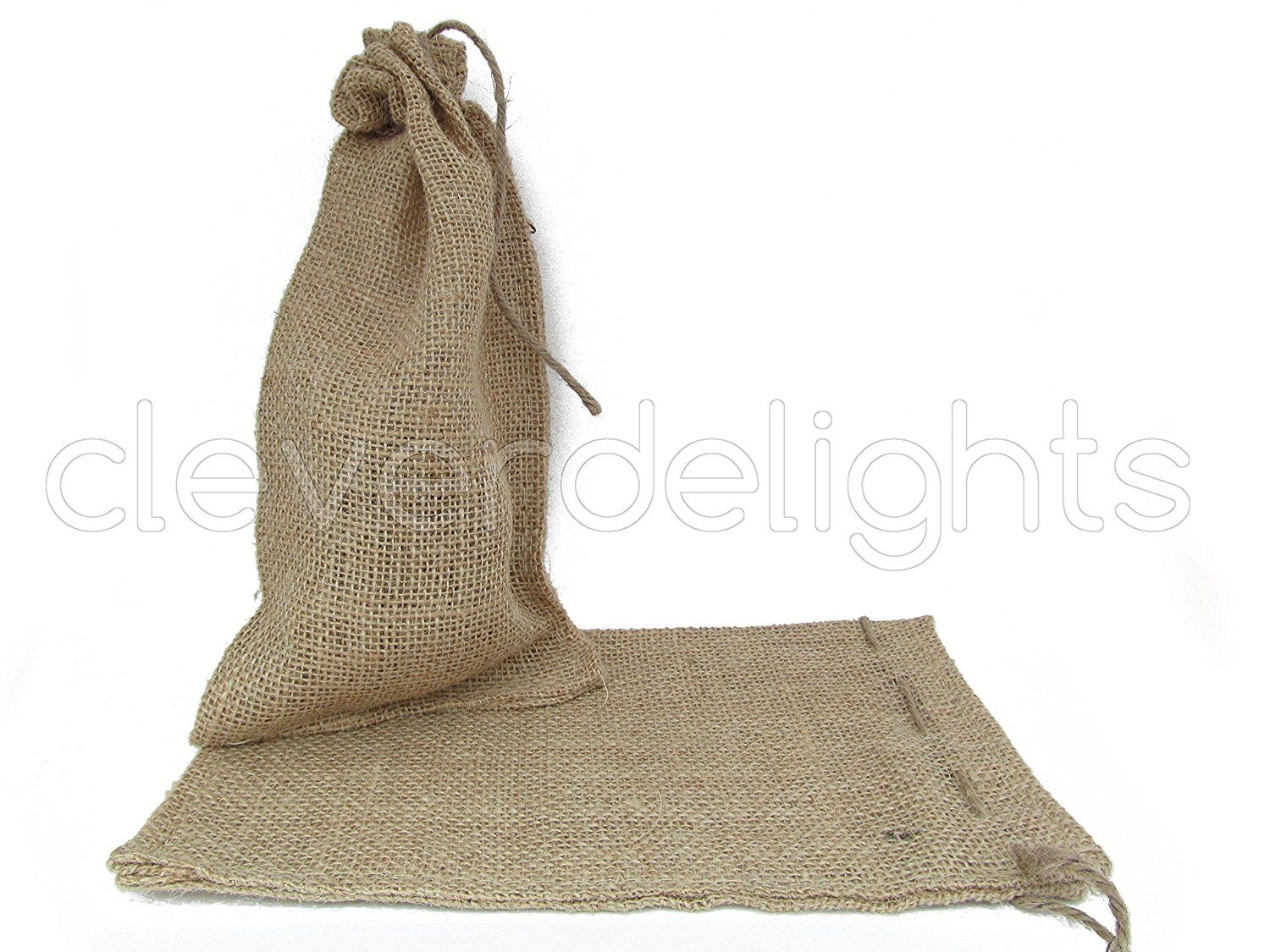 CleverDelights 6\' x 10\' Burlap Bags with Natural Jute Drawstring ...