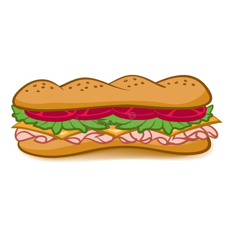 Sub Sandwhich A Colorful Cartoon Sub Sandwich With Lettuce Tomato Meat And Chee Sponsored Affiliate Paid Col Sandwiches Sandwich Drawing Sub Sandwhich