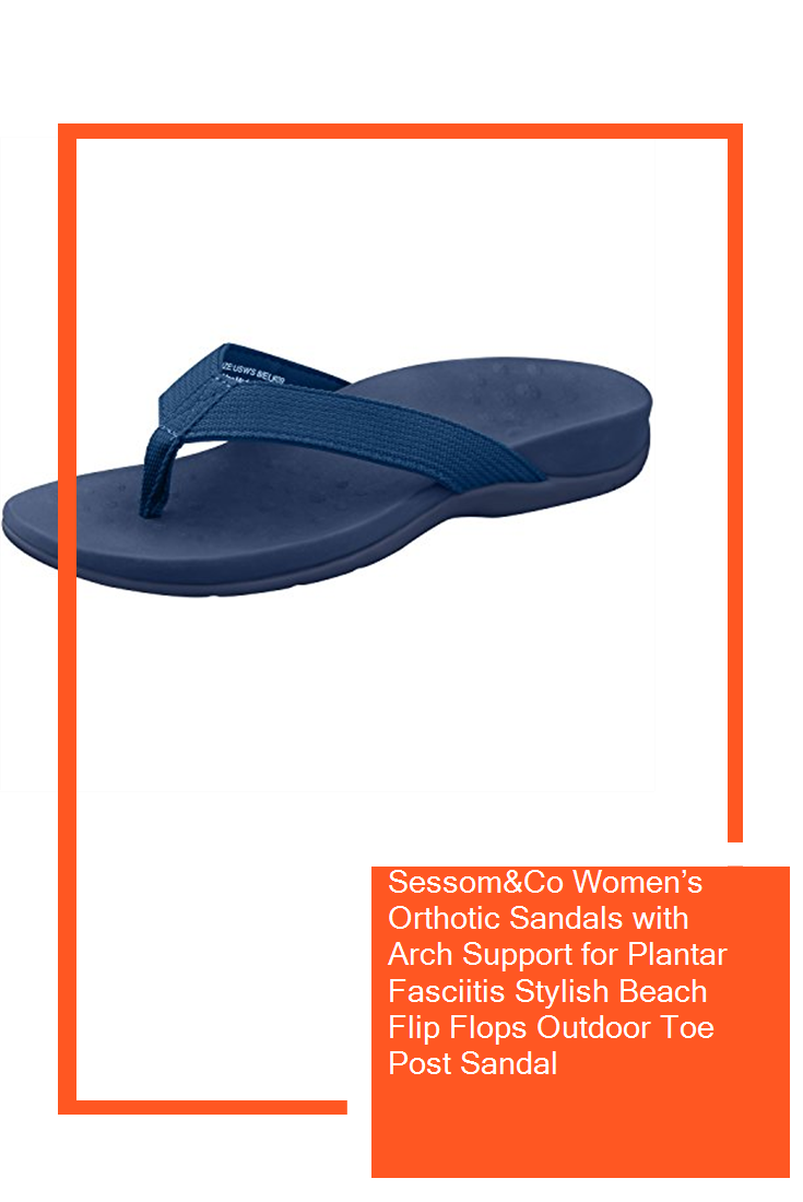 f8844fcf308 Sessom Co Women s Orthotic Sandals with Arch Support for Plantar Fasciitis  Stylish Beach Flip Flops Outdoor Toe Post Sandal  new