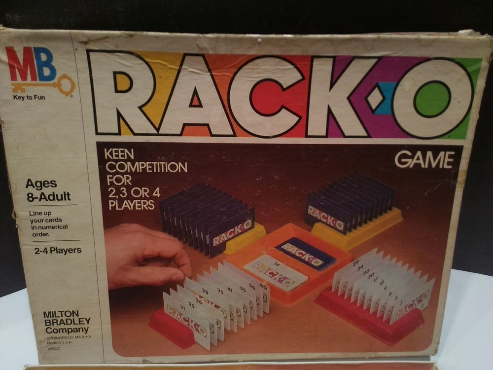 Rack O Game By Milton Bradley Vintage 1980 100 Complete With