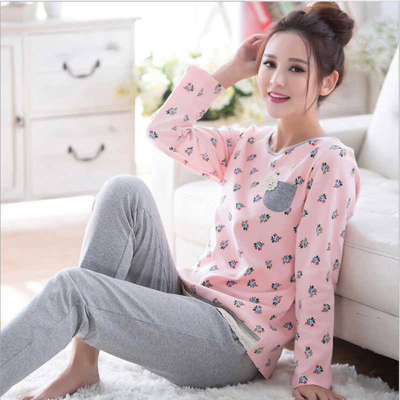 128e9e3dcb Plus size pajamas sets home clothes bust 96-112cm nightwear Sleepwear  Pajamas Women Female Pajama Cotton Pajamas d111