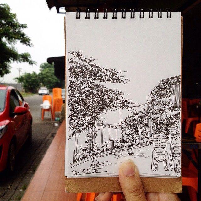 good morning   #mekaworks #mekaworks #urbansketch #medan #indonesia