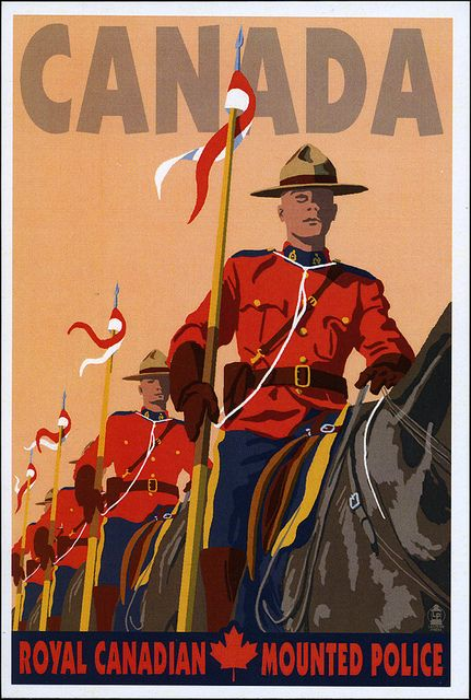 Postcard Canadian Mounties In 2020 Posters Canada Vintage Travel Posters Poster