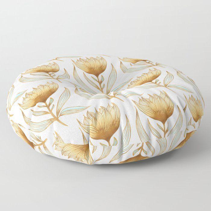 "Bohemian Sunflower Pattern Floor Pillow by Moderntropical - ROUND - 30"" x 30"""