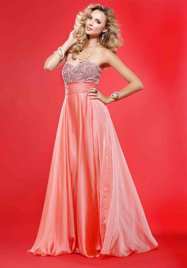 Fotos de Vestidos Largos de Fiesta de Color Coral | vestidos para ...