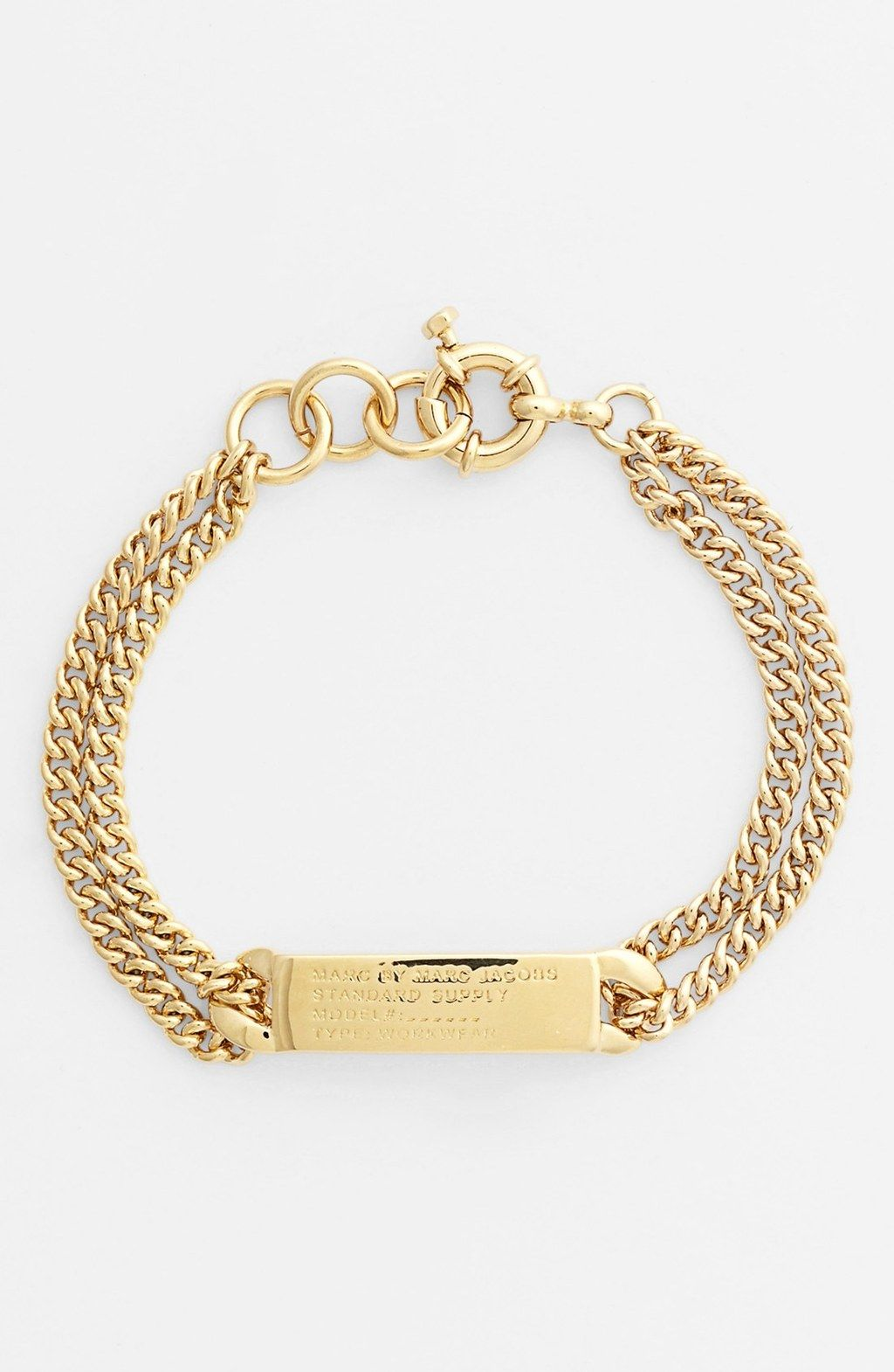 Marc by Marc Jacobs Gold Standard Supply ID Bracelet My Birthday