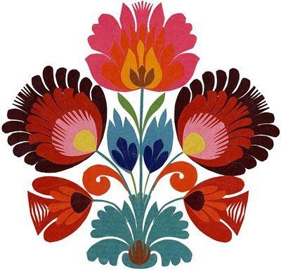 Wycinanki polish paper art gorgeous colors via inspire bohemia flowers mightylinksfo