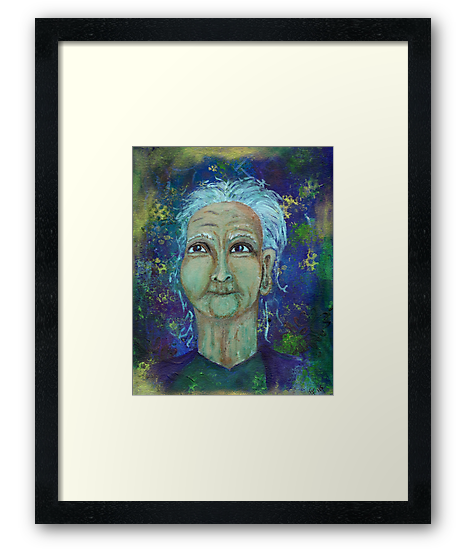 Auntie Ebb art prints available here: http://www.redbubble.com/people/elizafayle/works/13682796-auntie-ebb?p=art-print  #woman #old #elderly #wise #crone