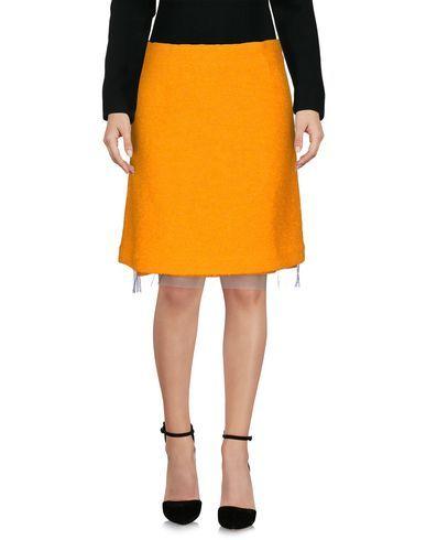 PETER JENSEN Women's Knee length skirt Orange M INT