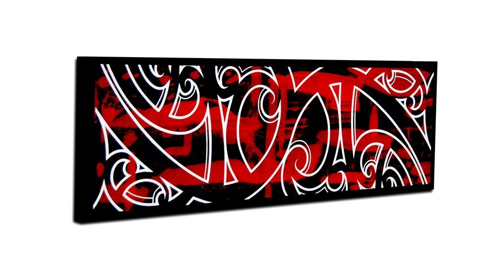 Kowhaiwhai in red, black and white. | My work. Available ...