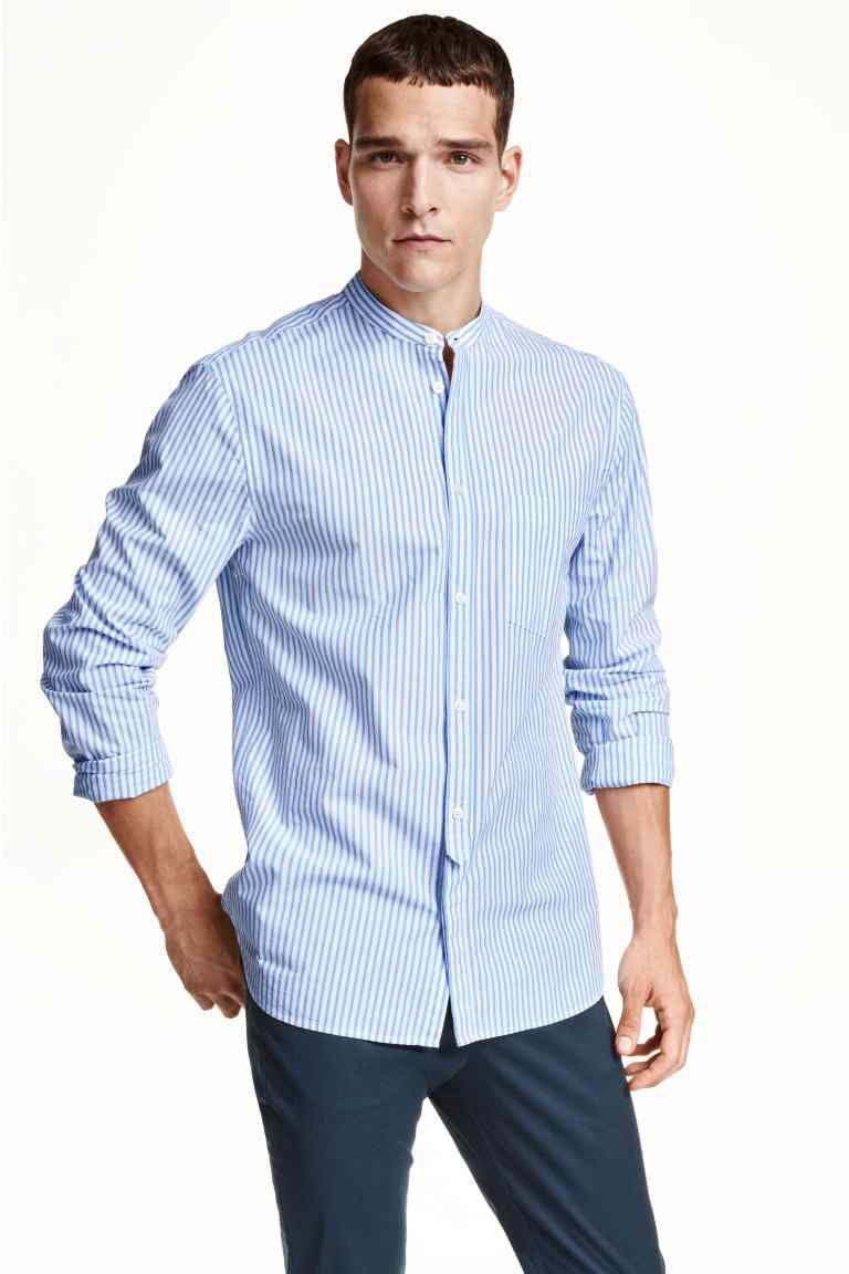 popular brand best price factory outlets Chemise à col mao | H&M en 2019 | Chemise col mao homme ...