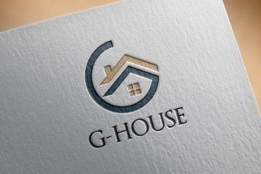 4 Circle G House Home Realty Real estate logo design